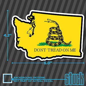 "6.0/""x4.2/"" Washington Don/'t Tread On Me printed vinyl decal sticker garsden"