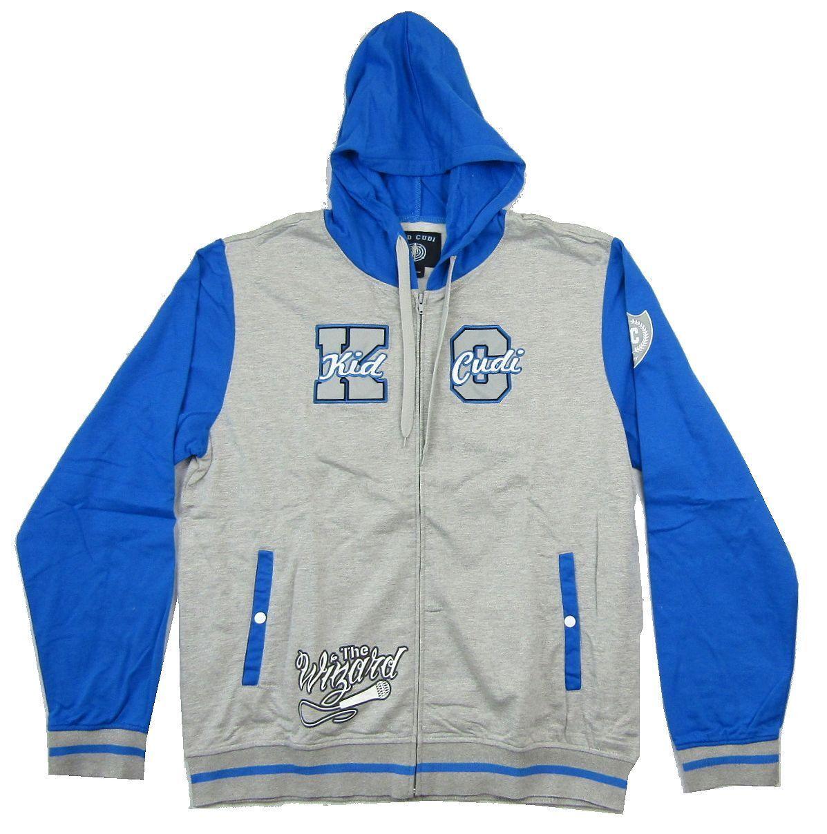 Kid Cudi The Wizard Grau Zip Up Sweatshirt Hoodie New Official