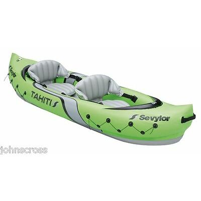 SEVYLOR TAHITI 2 PERSON INFLATABLE KAYAK BRAND NEW AND BOXED DELIVERED FREE