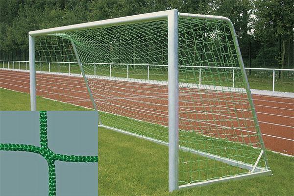 Jugendfußballnetz, Fußballtornetz, Tornetz Jugendtor 5x2m (80/150), 4mm, grün