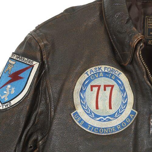 COCKPIT USA U.S.S Ticonderoga G-1 Jacket Brown Z21H008 Made in USA