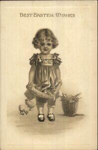 Easter-Little-Girl-w-Rabbits-Gottschalk-Dreyfuss-amp-Davis-c1910-Postcard