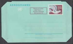 UN, Vienna Sc UC2 mint 1986 surcharged 6s Air Letter Sheet, VF Aerogramme