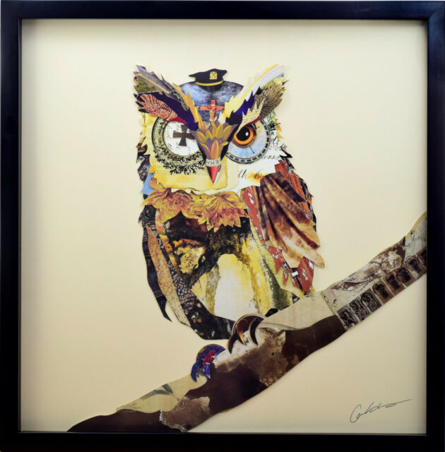 The General 3d Art Collage Image Owl Army War Uniform Hunt Wall ...