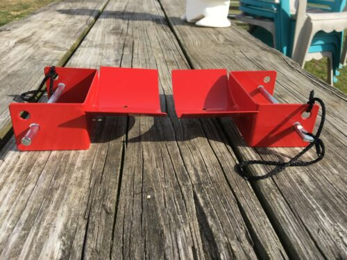 Pair red metal jump cups w// pins