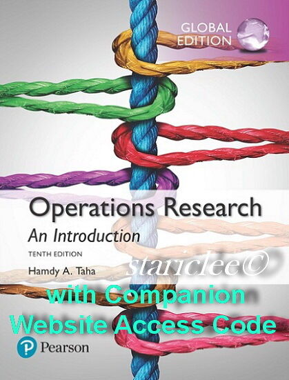 NEW 3 Days AUS Operations Research A Introduction 10E Hamdy A. Taha 10th Edition