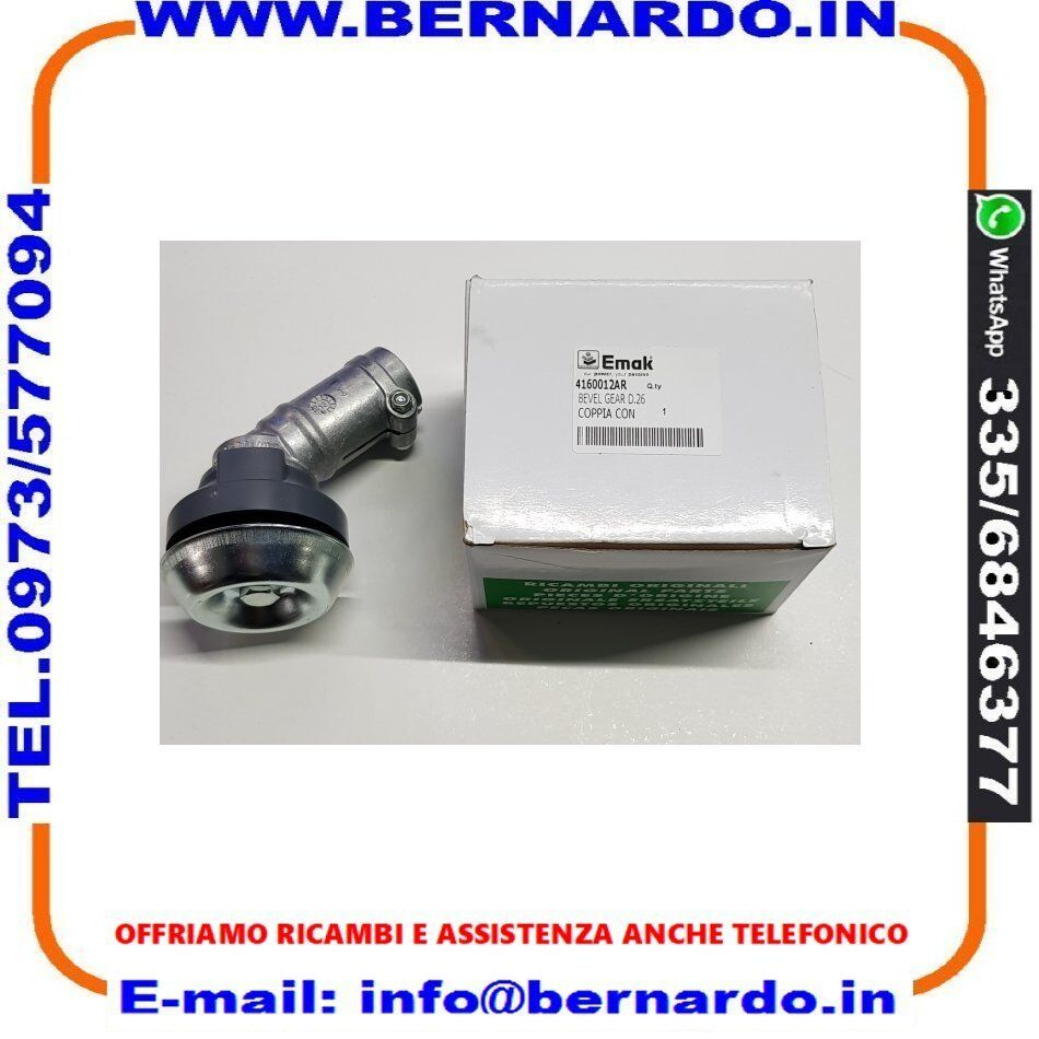 DECESPUGLIATORE OLEO-MAC SPARTA 250 S (Euro2) -4160012AR Coppia conica Ø26