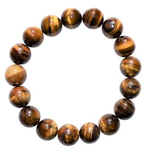 Premium-CHARGED-Golden-Tiger-Eye-Crystal-12mm-Bead-Bracelet-Stretchy-REIKI