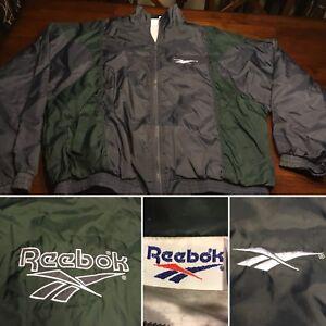 832a8fdce9712 Details about Vtg Reebok Windbreaker Coat Jacket Rare OG Vintage 90s Mens  XL Hip Hop