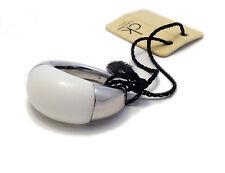CK CALVIN KLEIN ANELLO DONNA ACCIAIO BIANCO 15 - WOMAN RING WHITE STEEL NUOVO