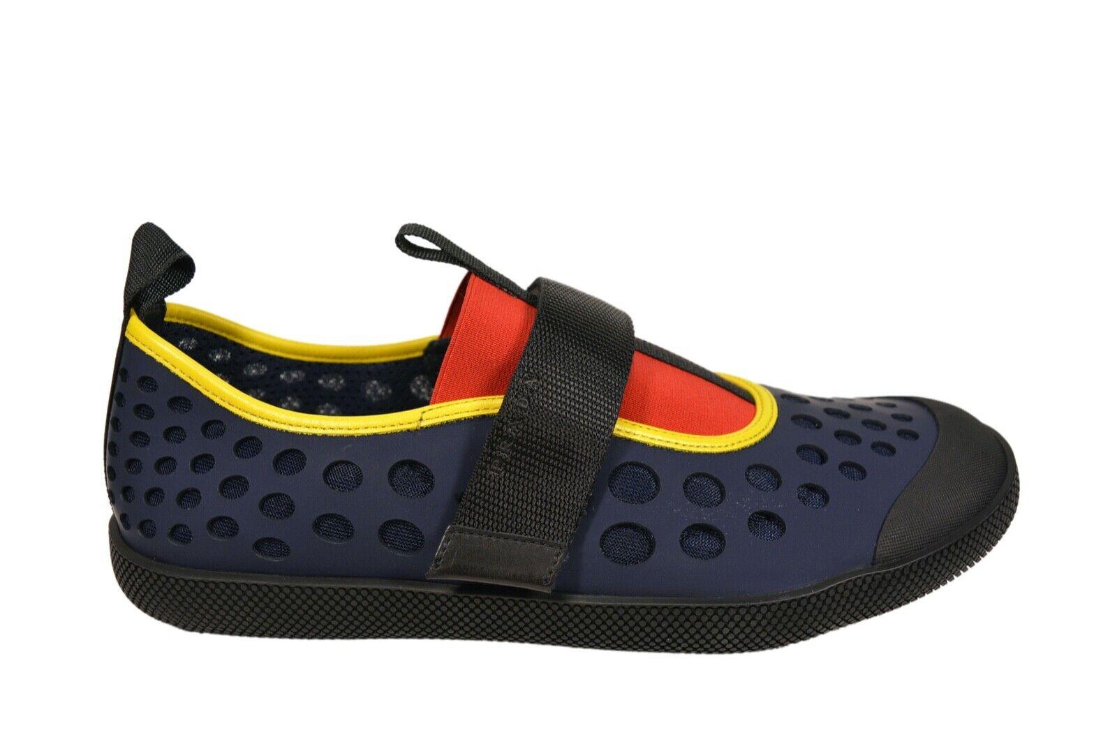 New Authentic PRADA Leather Mens Sneakers Shoes Schuhe US12 EU45 UK11 2OG042