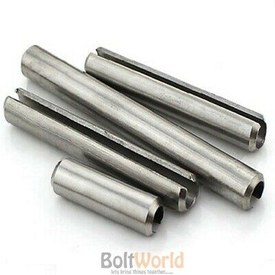 Bolt Base M3 x 24 Stainless Steel Slotted Spring Tension Pins Sellock Roll Pins DIN 1481-50 Pack 3mm