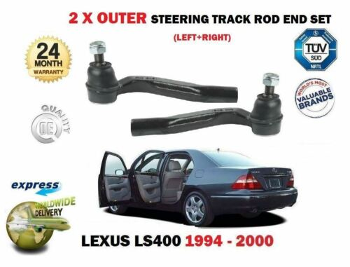 Pour lexus LS400 1994-2000 neuf 2x outer track tie rack steering rod end set