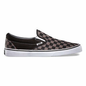 e75d738d986891 Vans CHECKERBOARD SLIP-ON BLACK PEWTER CHECKER Canvas Classic Shoes ...