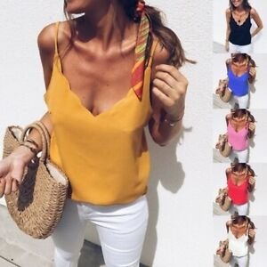 2019-Women-Summer-Loose-Sleeveless-Casual-Tank-T-Shirt-Blouse-Tops-Vest-Solid