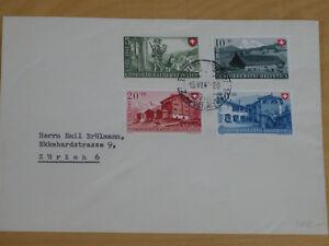 Schweiz-508-511-FDC-Ersttagsbrief-Pro-Patria-1948-Michel-Euro-100-00
