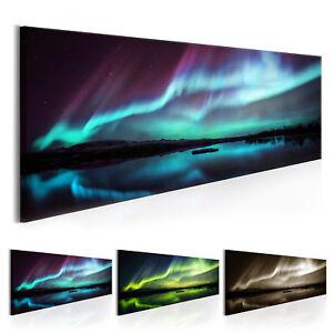 wandbilder xxl wohnzimmer leinwand bilder xxl polarlicht nordlicht c b 0289 b b ebay. Black Bedroom Furniture Sets. Home Design Ideas
