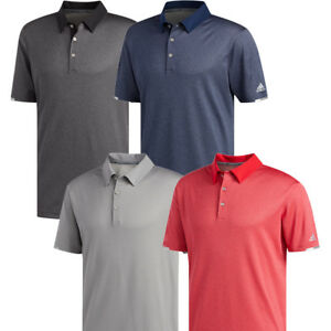 Details zu Adidas Golf 2019 Mens ClimaChill Core Heather Short Sleeve Polo Shirt