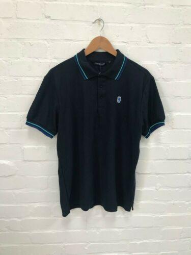 Chelsea FC Officiel Homme Logo Classique Polo Shirt-Large-Bleu marine-Neuf