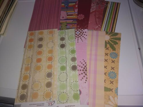 MIX M06 10X BEAUTIFUL SCRAPPAPERS FOR MAKING CARDS 30X15 CM NEW//2 SIDE