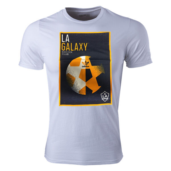 Camiseta de fútbol adidas LA Galaxy MLS Graphic para hombre (Jersey Navy / Home White) AM8101 *