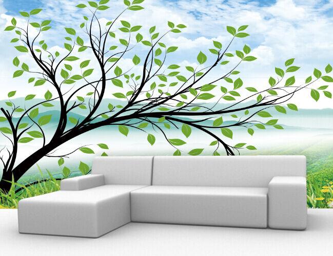 3D Landschaft, Baum 10293 Fototapeten Wandbild Fototapete BildTapete Familie DE