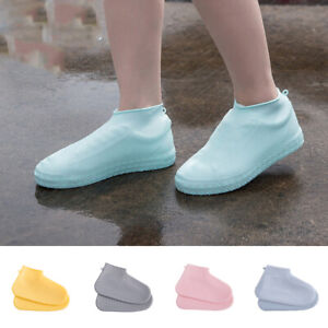 Reusable-Silicone-Boot-And-Shoe-Covers-Rain-Socks-Waterproof-Non-Slip-Washable