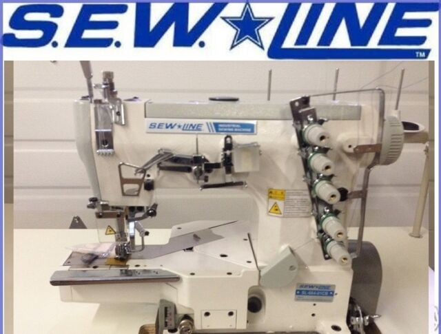 Sewline Sl40 Top Quality Cylinder Bed Coverstitch Industrial Awesome Cylinder Sewing Machine Used