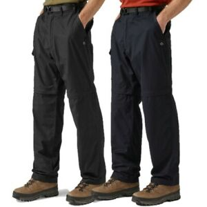 CRAGHOPPERS-MENS-KIWI-CONVERTIBLE-TROUSERS-TRAVEL-ZIP-OFF-BLACK-or-NAVY-CMJ107