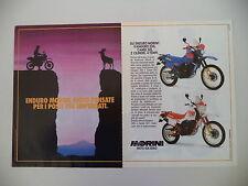 advertising Pubblicità 1987 MOTO MORINI KANGURO 350/CAMEL 501