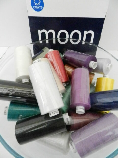 219 5 x REELS LILAC MOON POLYESTER SEWING THREADS COTTON 120s