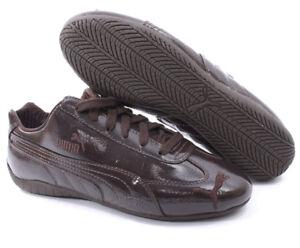 Puma Speed Cat BREVETTO cuoio liscio AVVENIRE Sneaker donna 36 37 38 marrone