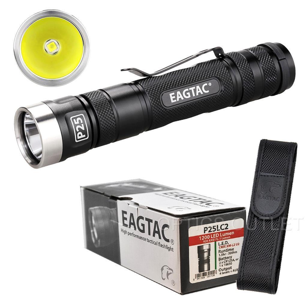 Eagletac P25LC2 1200 Lumens 230 Yard Cree XM-L2 U2 LED Flashlight [T25C2 D25LC2]