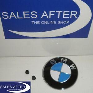 Original-BMW-Emblem-Plakette-Heckklappe-3er-E91-E91LCI-Touring-Kofferraum-76mm