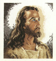 Cross Stitch Kit Janlynn / Dfn Jesus Portrait Of Christ At 33 Picture 1149-00