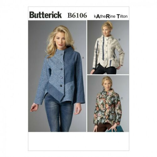 Butterick-61... Butterick Ladies Sewing Pattern 6106 Loose Fit Panelled Jackets