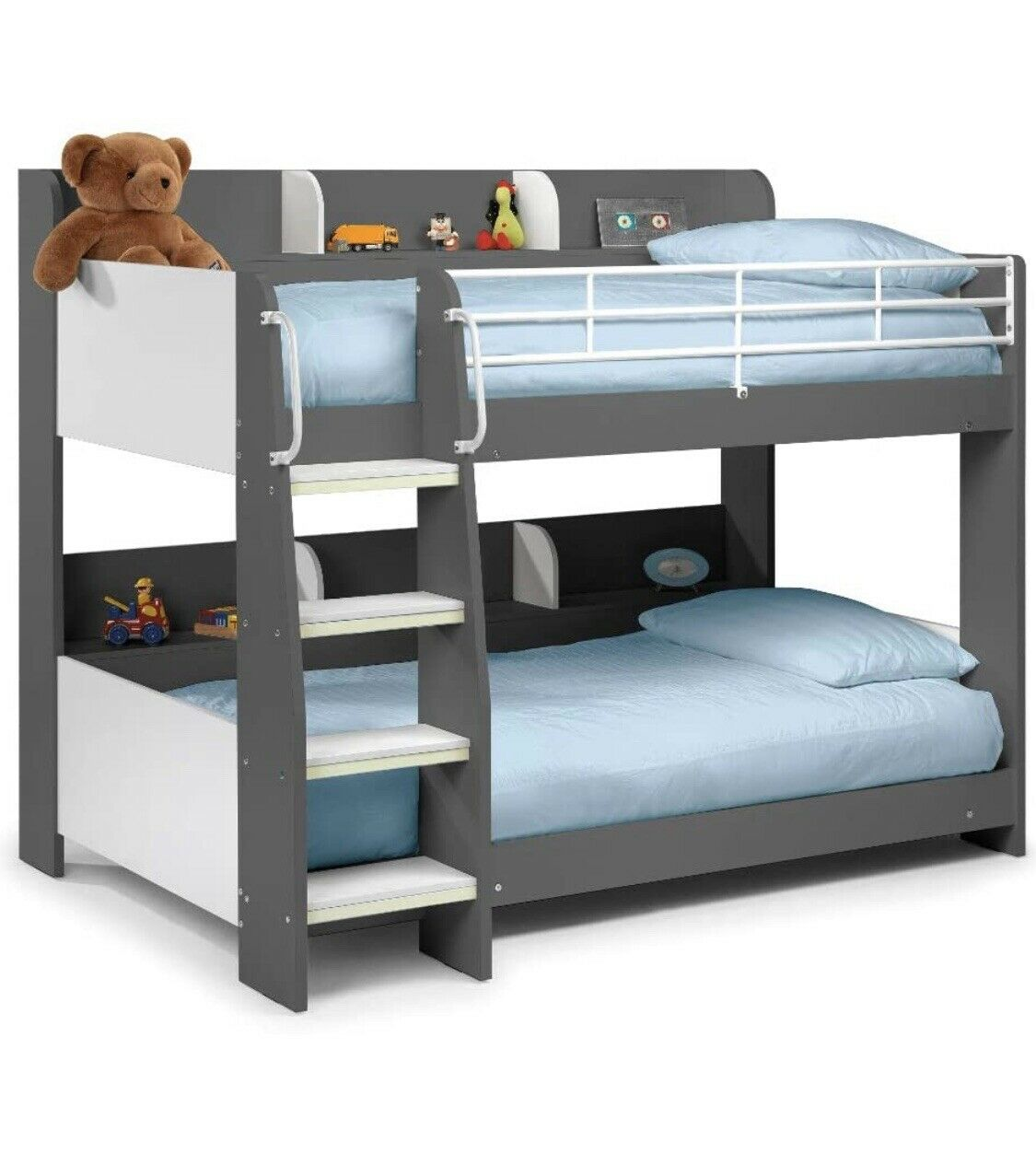 Picture of: Happy Beds Domino Oak Wooden And Metal Kids Storage Bunk Bed Modern Sleep Frame For Sale Ebay