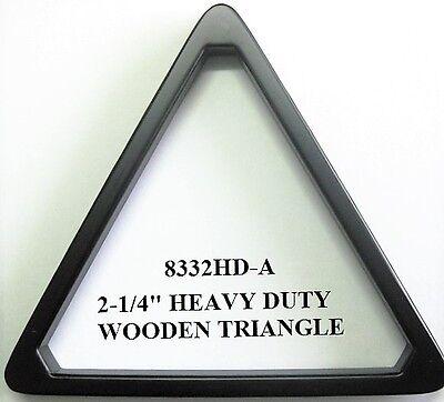 """Sturdy Black Wooden TRIANGLE 15 x 2 1/4"""" - Balls Pool Snooker Billiards"""