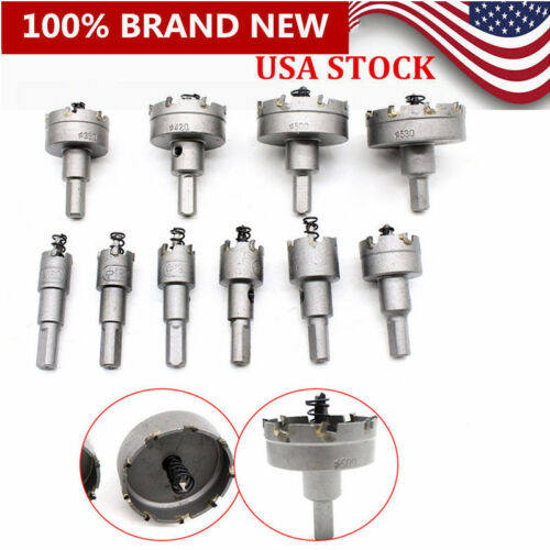 10PCs Hole Saw Tooth Kit TCT Carbide Steel Drill Bit Cutter Tool For Metal Alloy
