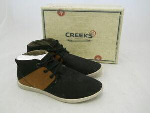 Boys Black Brown Chukka Boots Shoes Fashion Trainers Genuine Creeks Size 3.5-7