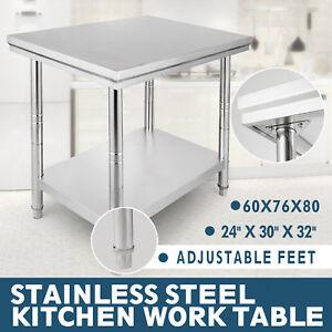 610x762mm Acero inoxidable mesa de trabajo mesa de cocina Stainles ...