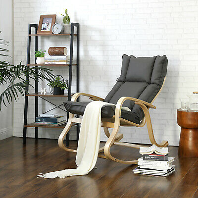 Schaukelstuhl Relaxstuhl Schwingsessel + gepolstertem Sitzkissen Sessel LYY31GY   eBay