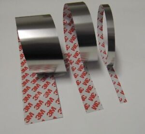1m-selbstklebendes-Edelstahlband-Breite-25mm-Staerke-0-30mm