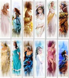 12 Marque-pages Femmes Romantiques (lot From.3) Technologies SophistiquéEs