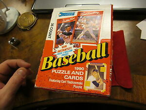 VINTAGE LOT 36 UNOPENED 1990 DONRUSS BASEBALL CARD AND PUZZLE PACKS