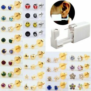 1unit No Pain Piercing Tool Machine Kit Disposable Safety Ear Piercing Device
