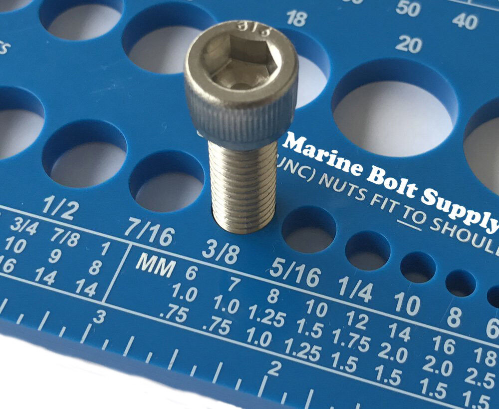 Thread Gauge for Measuring Bolts Screws Bolts and Nuts Standard /& Metric