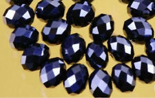 200Pcs Black Faceted Swarovsk Crystal Gemstone Loose Beads 4X6mm LL003