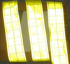 Lime Gloss Reflective Tape Pvc Sew On Material 3x2