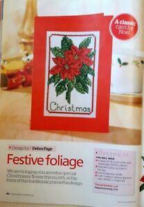A5-Christmas-cross-stitch-chart-Festive-foliage-from-a-magazine